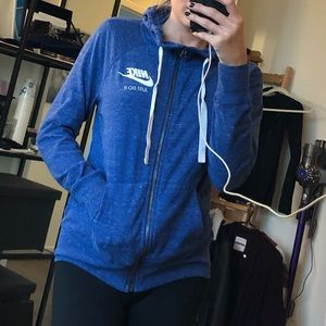 Nike blue zip up